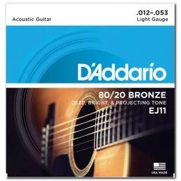Струны для акустической гитары D'Addario EJ11 (12-53)