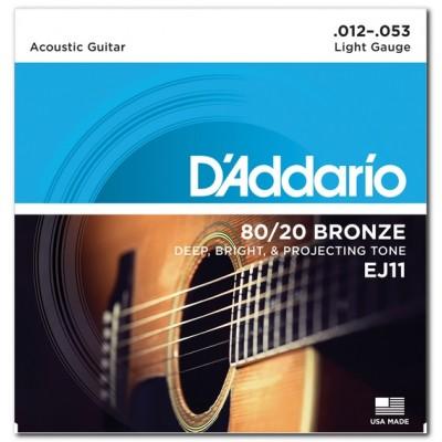 D'Addario EJ11 струны для акустической гитары 12-53
