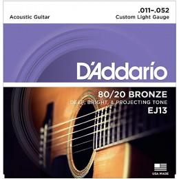 Струны для акустической гитары D'Addario EJ13 (11-52)
