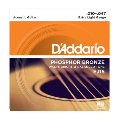 D'Addario EJ15 струны для акустической гитары 10-47