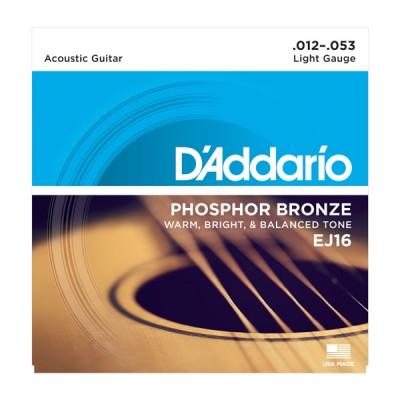 D'Addario EJ16 струны для акустической гитары 12-53