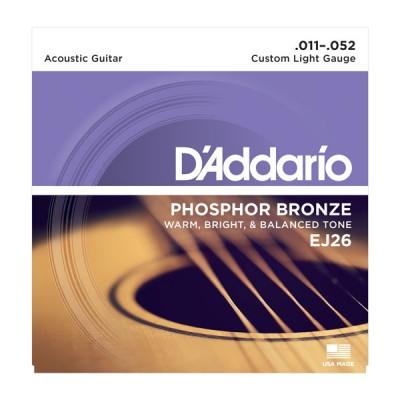Струны для акустической гитары D'Addario EJ26 (11-52)