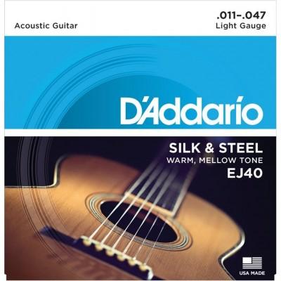 D'Addario EJ40 струны для акустической гитары 11-47