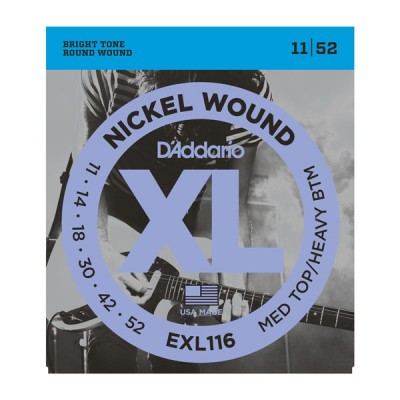 D'Addario EXL116XL струны для электрогитары 11-52