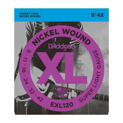 Струны для электрогитары D'Addario EXL120XL (9-42)