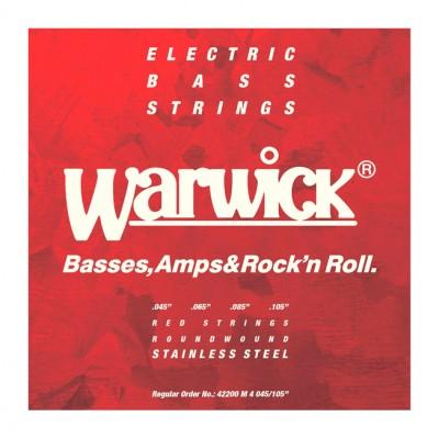 Струны для бас-гитары WARWICK 42200 Red Label Stainless (45-105)