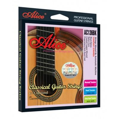 Струны для классической гитары Alice AC136BKH (28.5-44)