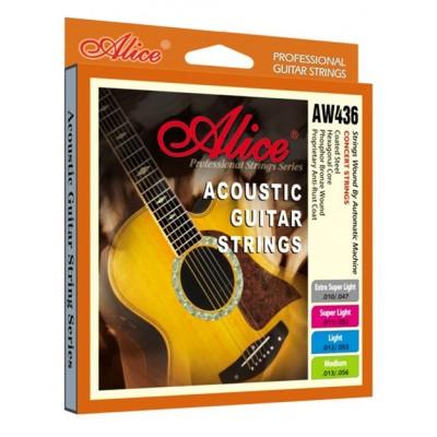 Струны для акустической гитары Alice AW436M (13-56)